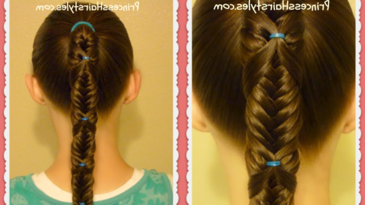 Best And Newest Wrapping Fishtail Braided Hairstyles In Fishtail Wrap Braid Ponytail Hairstyle (View 3 of 20)