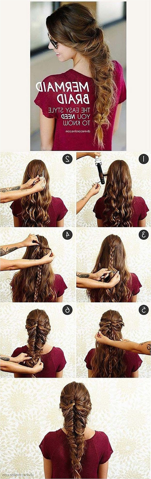 Best Hair Braiding Tutorials – Mermaid Braid – Easy Step Intended For Famous Mermaid Fishtail Hairstyles With Hair Flowers (View 8 of 20)