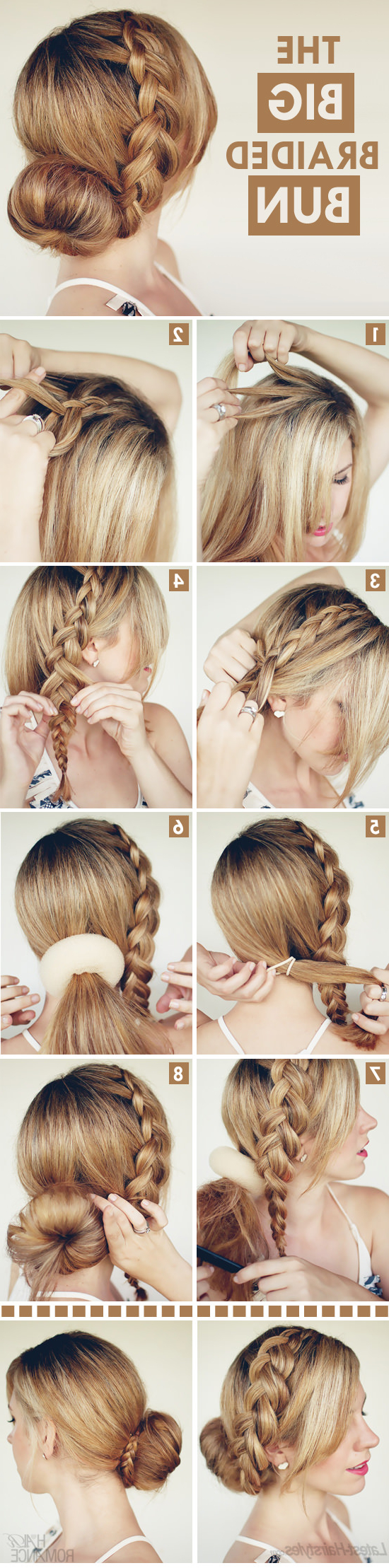 Big Braided Bun Hair Tutorial On Latest Hairstyles – Hair Intended For Fashionable Big Bun Braided Hairstyles (View 18 of 20)