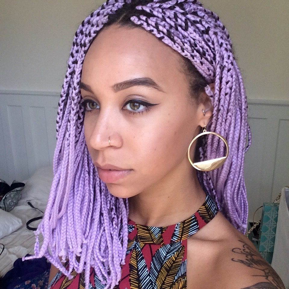 Black Girl For Well Liked Colorful Yarn Braid Hairstyles (View 11 of 20)