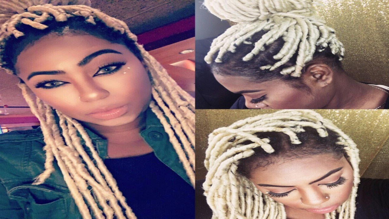 Blonde Individual Crochet Faux Locs In 2020 Blonde Faux Locs Hairstyles With Braided Crown (View 20 of 20)