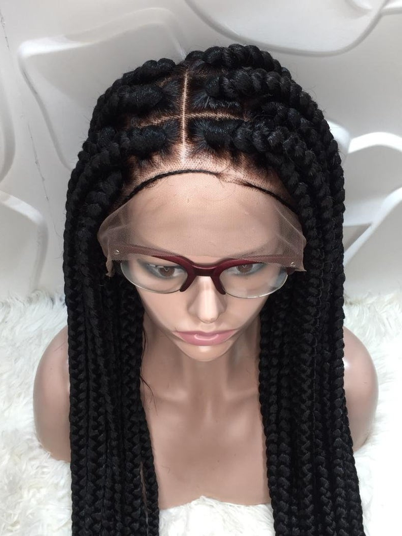 Bob Braid Wig, Long Braid Wig, Bob Marley Wig, Side Part Braid Wig, Centre  Part Braid, Short Braid Wig, Hand Made Braid Wig, Neat Braid Wig Intended For Most Recent Center Parted Bob Braid Hairstyles (View 4 of 20)