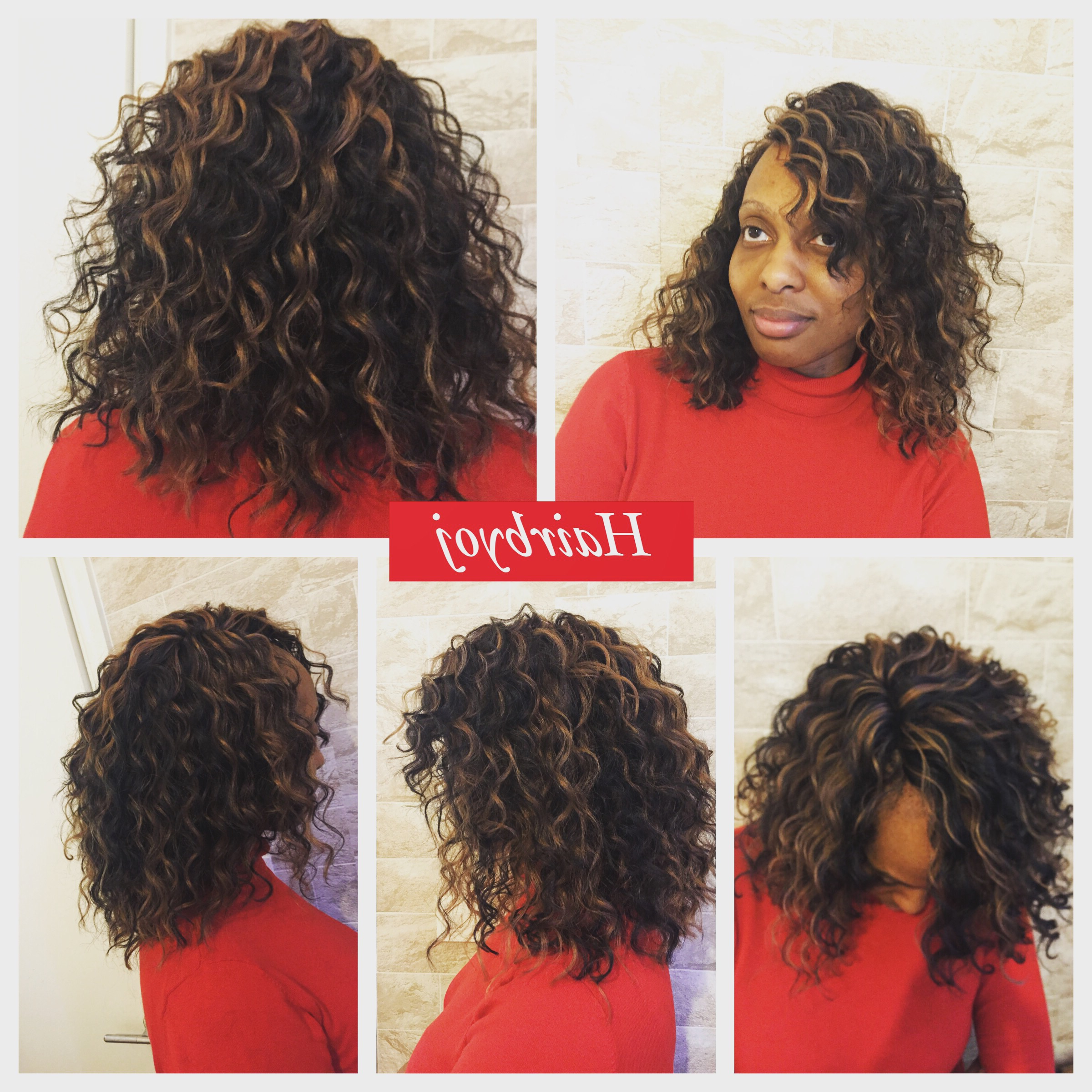 Bob Length Deep Twist Crochet Braids With Blonde Highlights With Regard To Widely Used Wavy Bob Hairstyles With Twists (View 7 of 20)