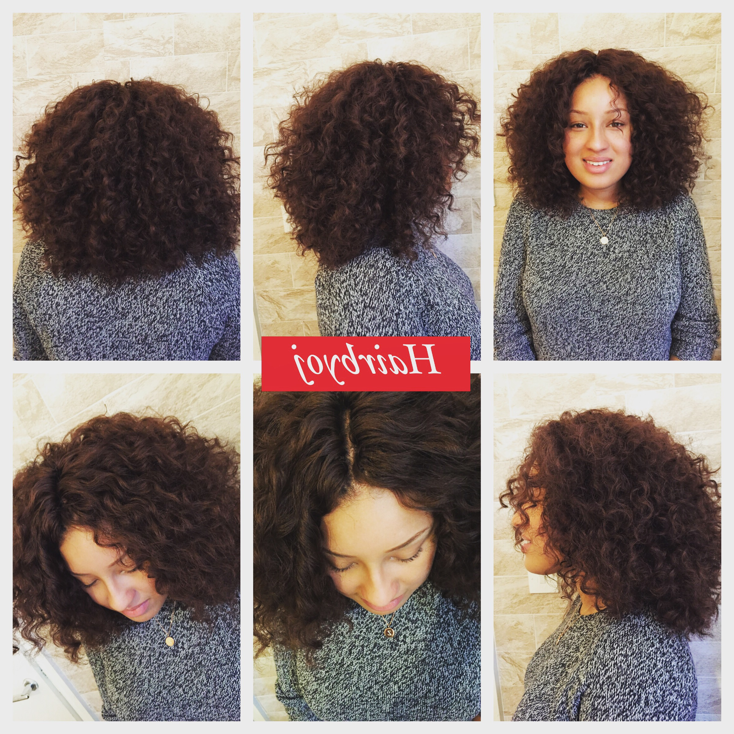 Bob Length Layered Curly Crochet Braids With Knotless Middle Inside Well Known Center Parted Bob Braid Hairstyles (View 5 of 20)