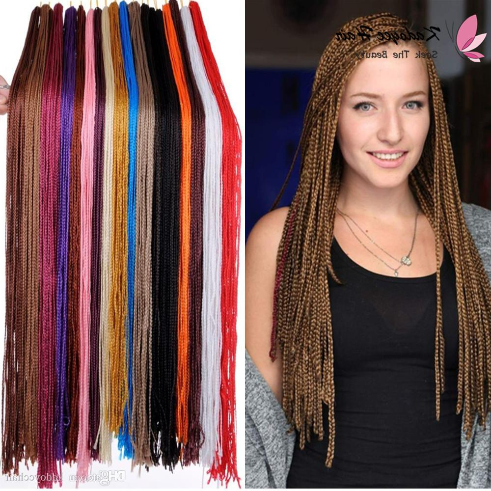 Bohemian Style Long Micro Box Braiding Hair 30Inch Crochet 3S Box Braid  Hair 18 Colors Synthetic Hair Extensions Zizi Twist For Black Women Regarding Well Liked Long Micro Box Braid Hairstyles (View 7 of 20)