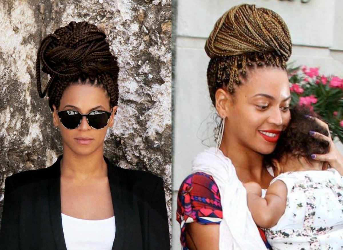 Box Braids Bun Hairstyles You Will Swear With (View 2 of 20)
