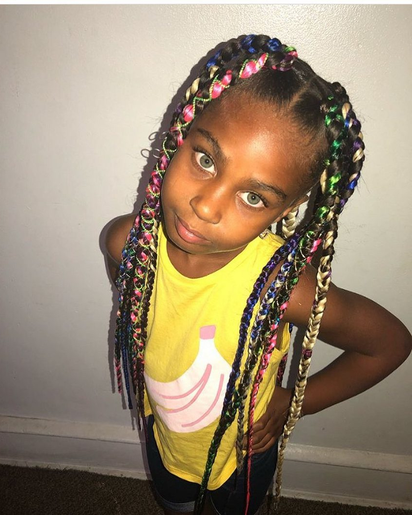 Box Braids Hairstyles For Kids (View 12 of 20)