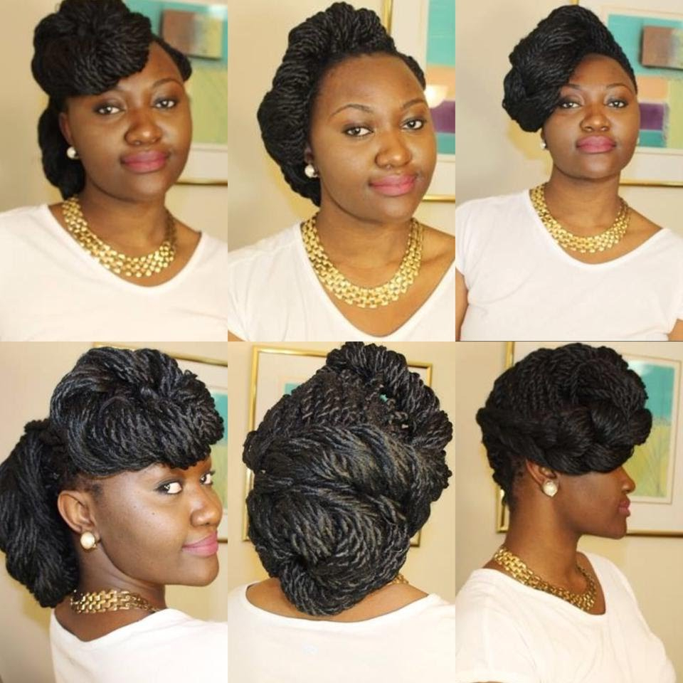 Box Braids Styles Updo (View 14 of 20)