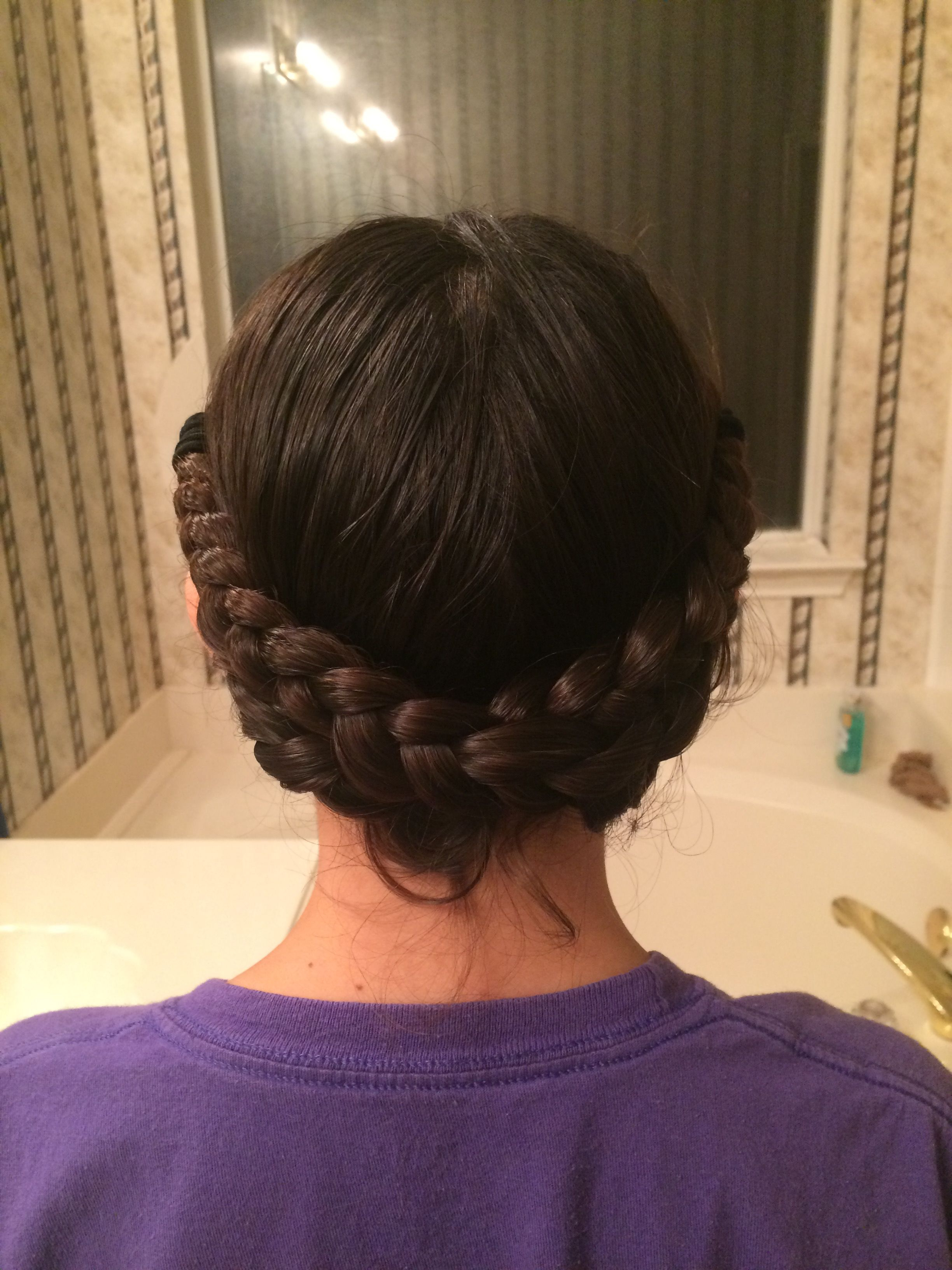 Braid Crown: 1make Two Braids On The Back Of Your Head 2 For Well Known Braided And Wrapped Hairstyles (View 2 of 20)