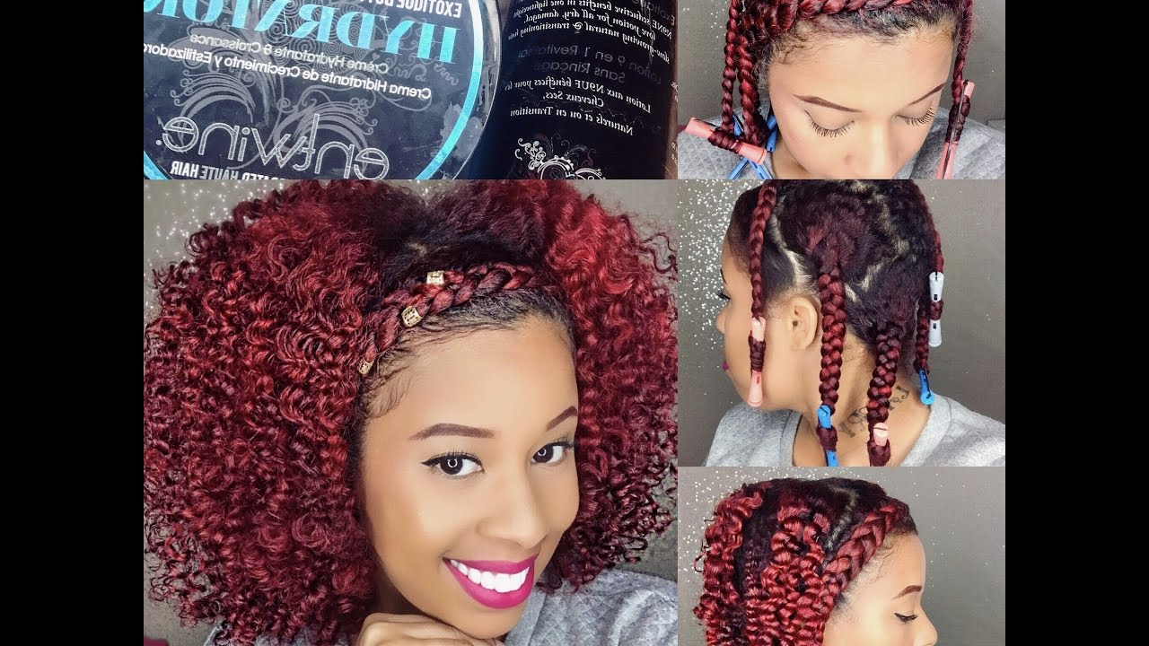 Braid Out On Natural Fine Hair/braid Headband Tutorial Within Widely Used Braided Headband Hairstyles For Curly Hair (View 16 of 20)