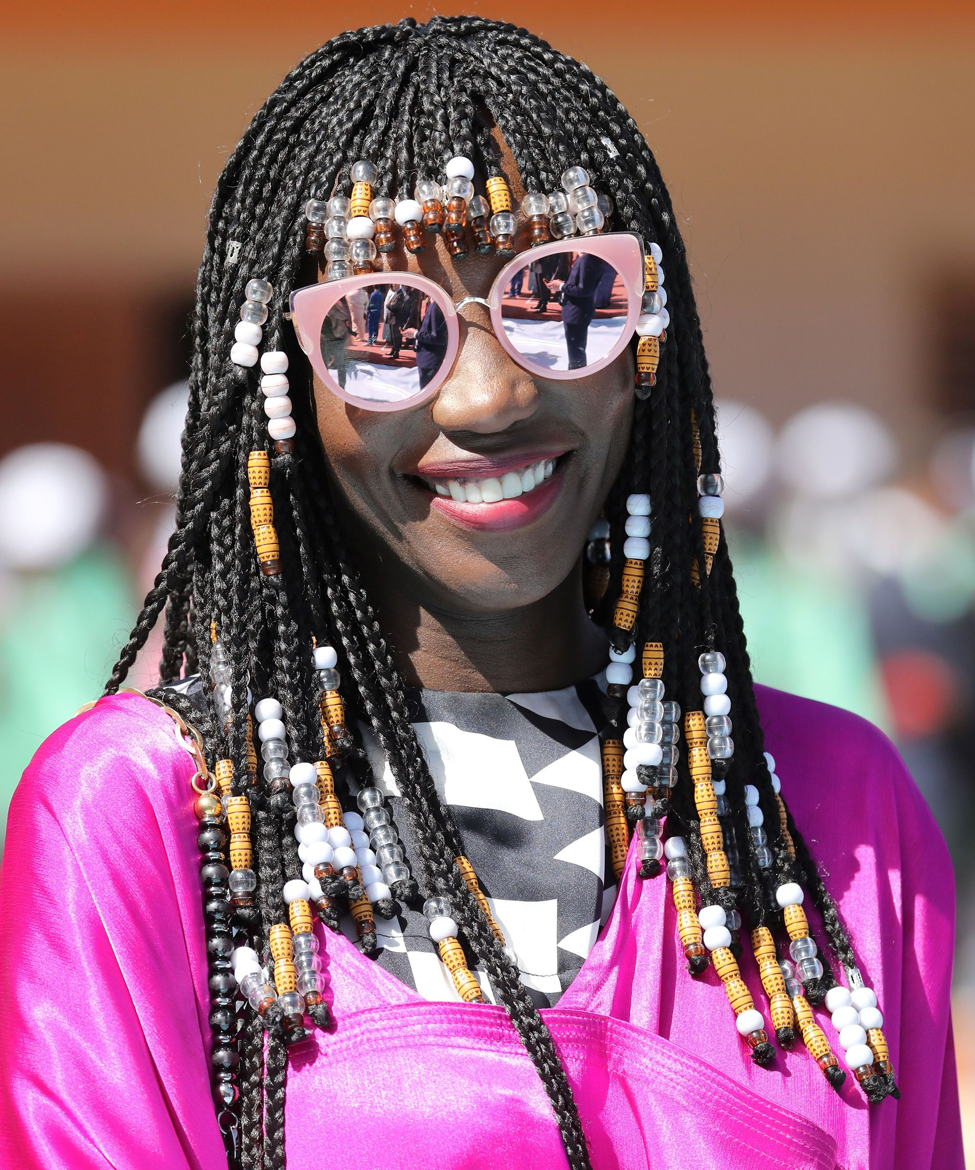 Braided Bangs Make Protective Styles Look Even Cooler With Regard To Favorite Beaded Bangs Braided Hairstyles (View 8 of 20)