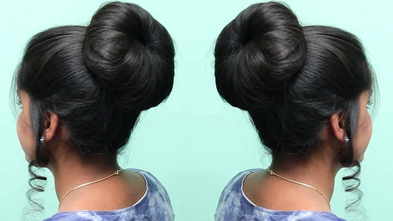 Braided Donut Hair Bun Updo For Recent Pearl Bun Updo Hairstyles (View 5 of 20)
