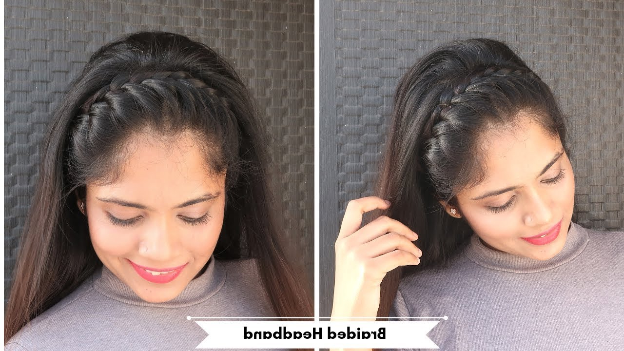 Braided Full Headband Hairstyle /open Hair Hairstyle For Party,function With 2019 Full Headband Braided Hairstyles (View 5 of 20)