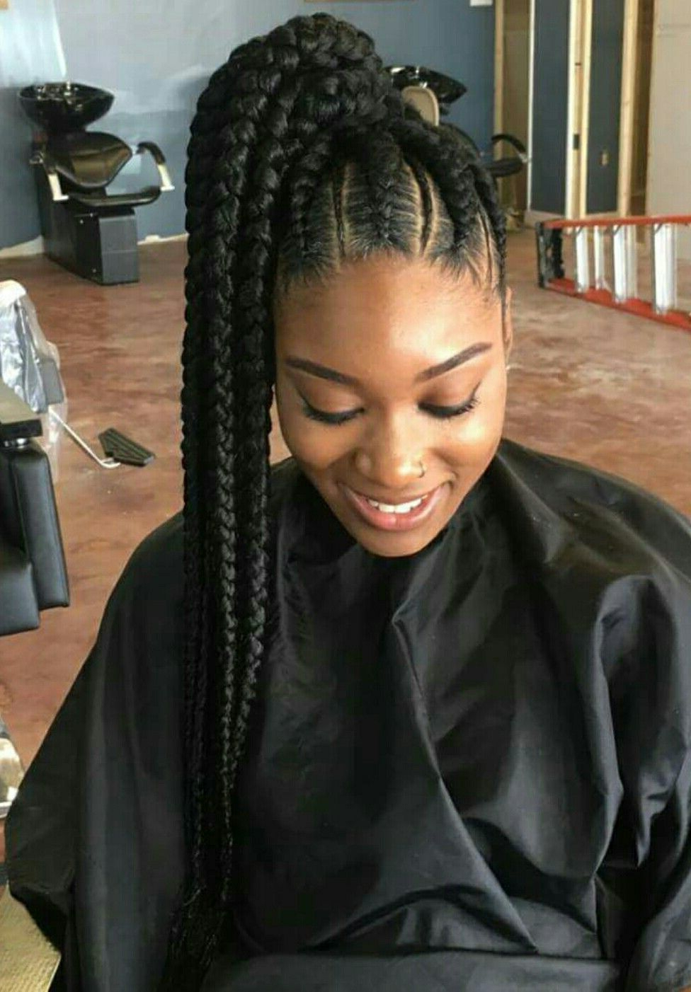 Braided Hairstyle : Surprising Awesome Black Hair French With Regard To Most Recently Released Braided Ponytails Updo Hairstyles (View 9 of 20)
