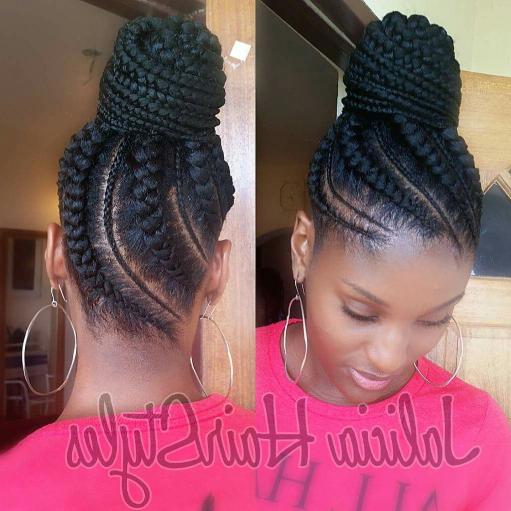 Featured Photo of Thick Cornrows Bun Hairstyles