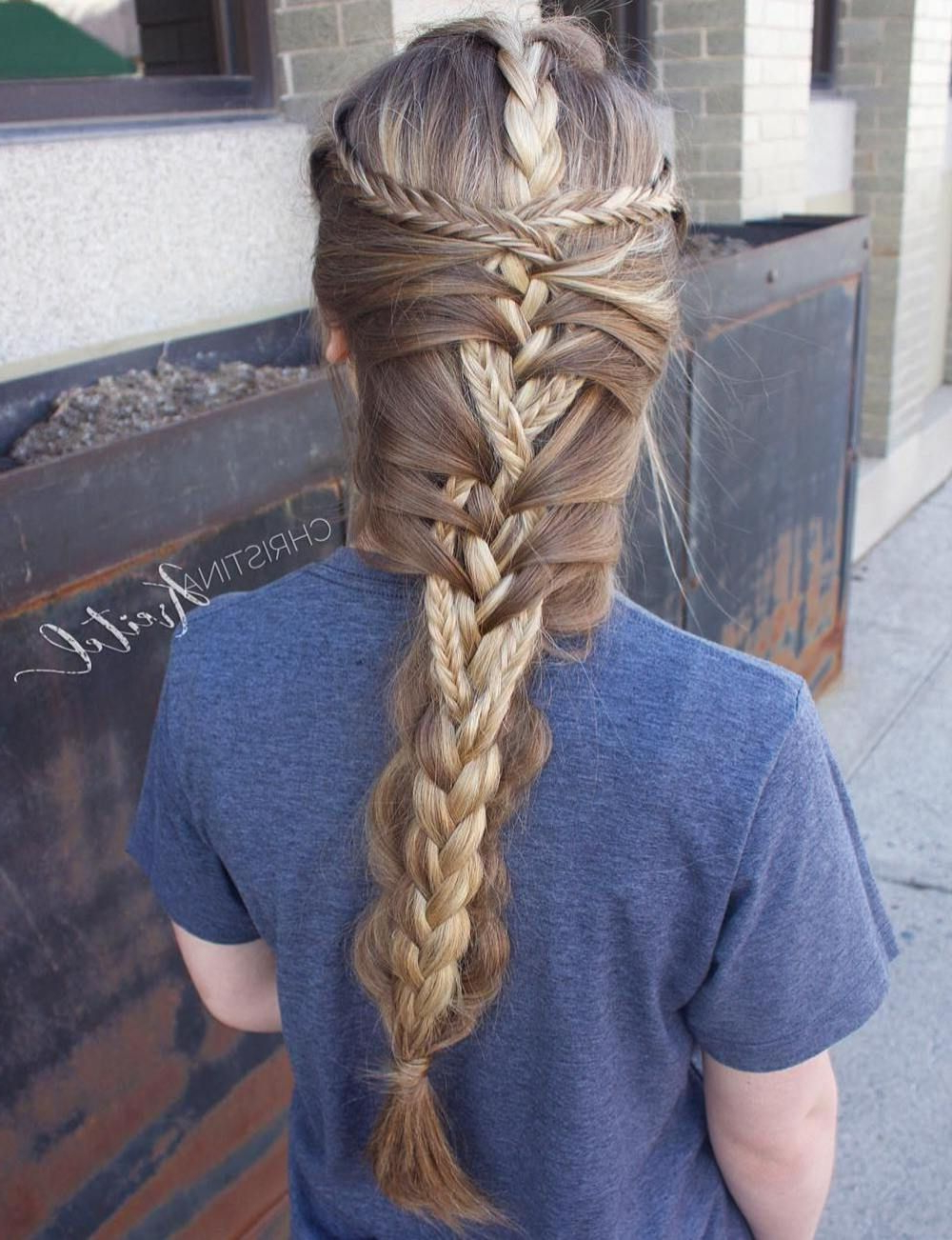 Braided Hairstyles, Mermaid Braid Pertaining To Well Known Braided Mermaid Mohawk Hairstyles (View 8 of 20)