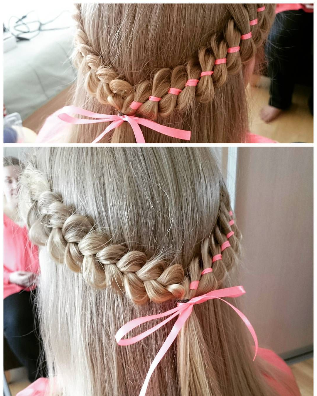 Braided Hairstyles🔥 Punutised💥 (braids By Maria With Fashionable Pink Rope Braided Hairstyles (View 12 of 20)