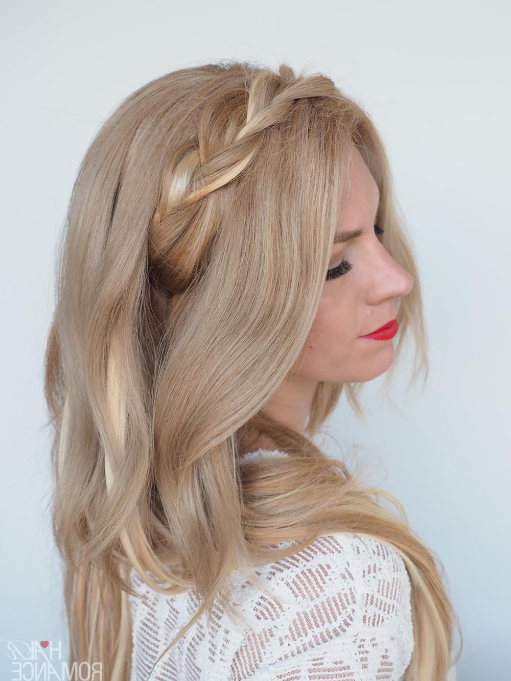 Braided Headband Hairstyle Tutorial – Hair Romance For Newest Braid Hairstyles With Headband (View 3 of 20)