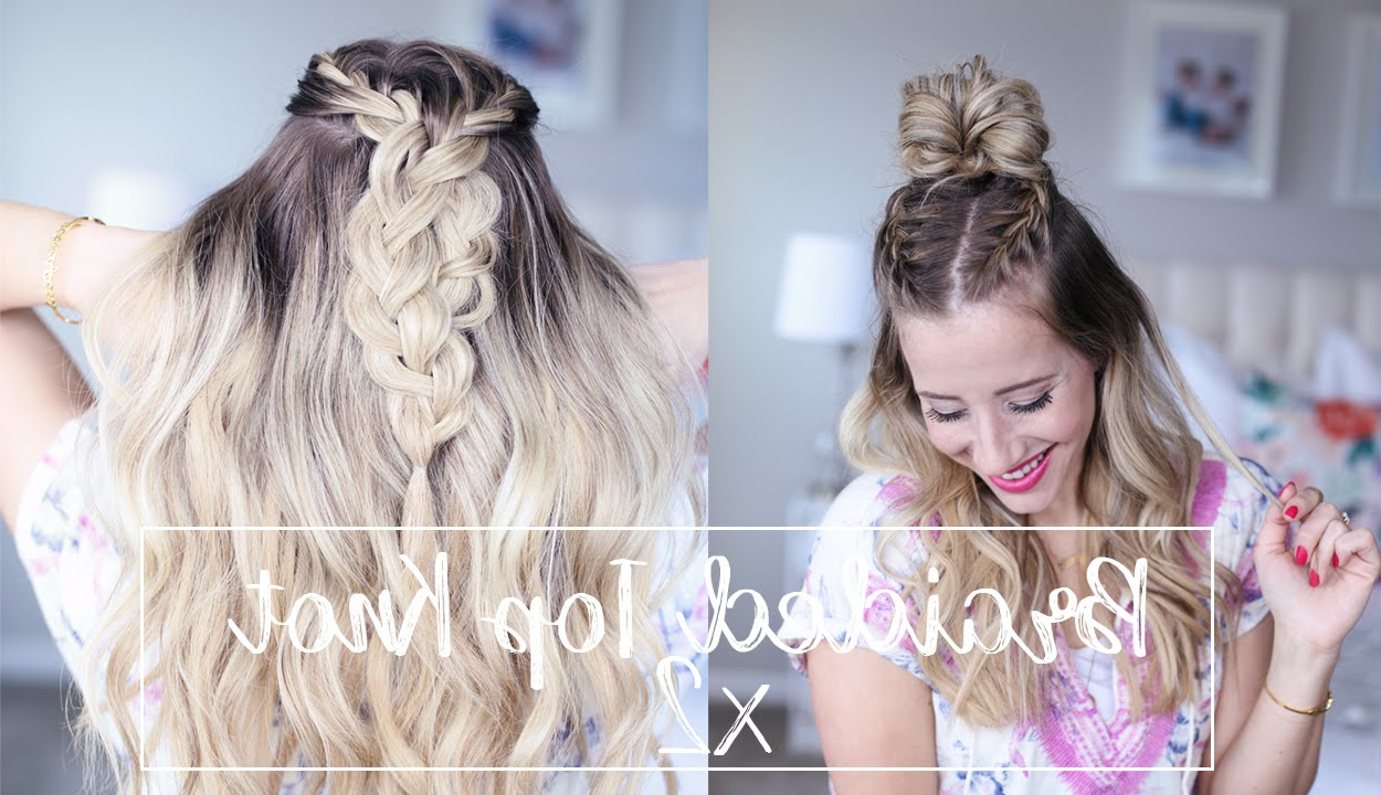 Braided Top Knot, Two Ways To Wear It! Regarding Favorite Braided Top Knot Hairstyles (View 3 of 20)