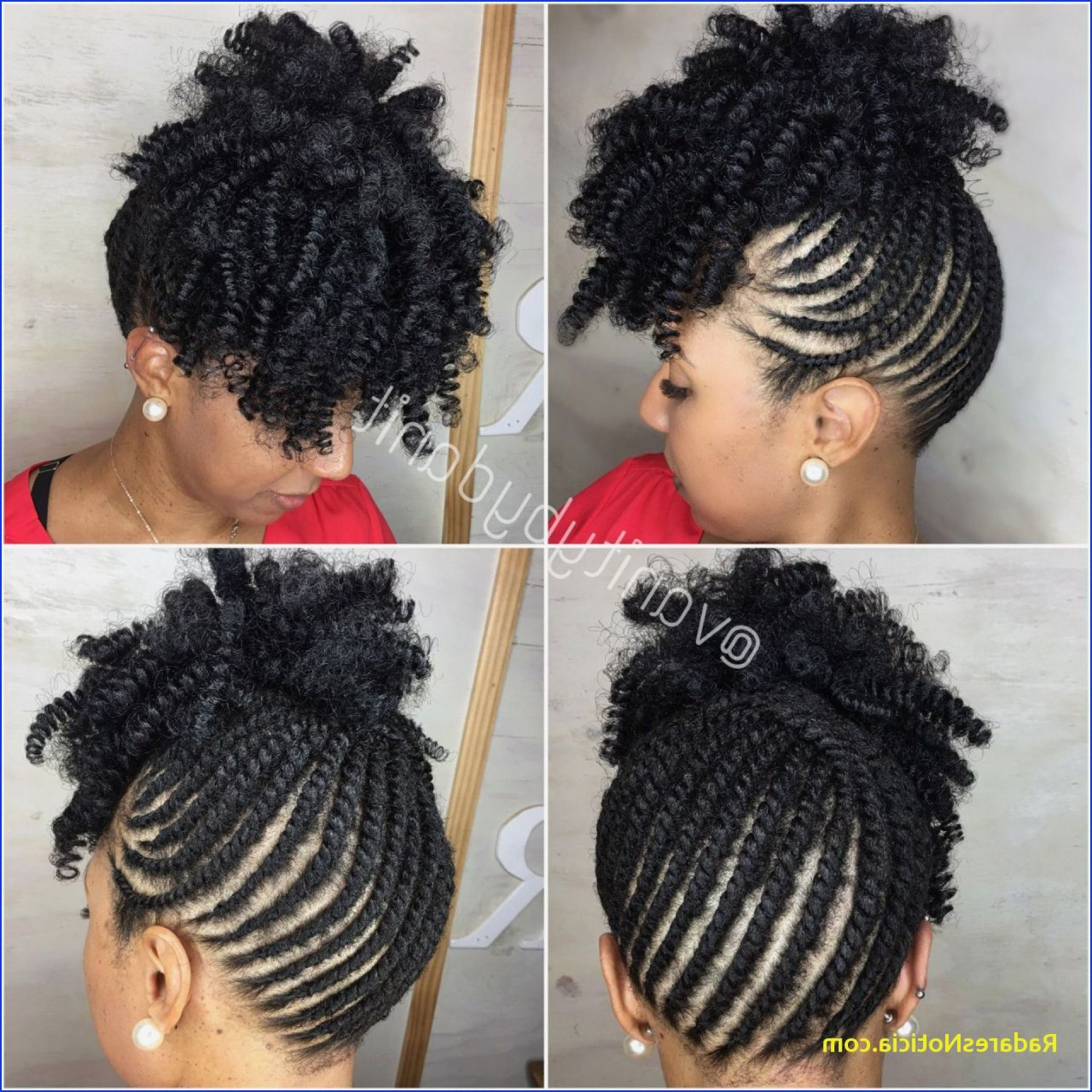 Braided Updo Hairstyles With Weave Braided Mohawk Hairstyles Intended For Favorite Black Twisted Mohawk Braid Hairstyles (View 15 of 20)