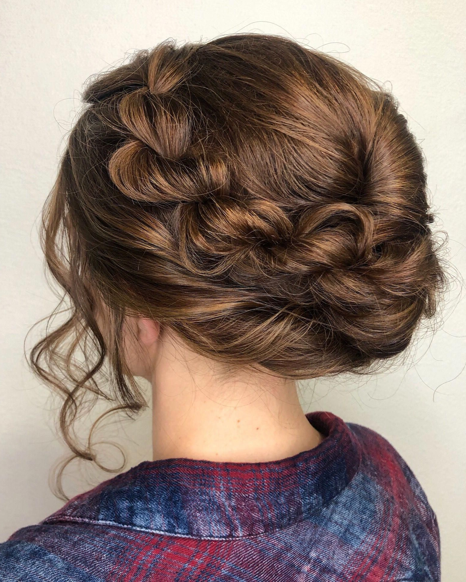 Braided Updo Style For Holiday Party Or Wedding Pertaining To Preferred Vintage Inspired Braided Updo Hairstyles (View 5 of 20)