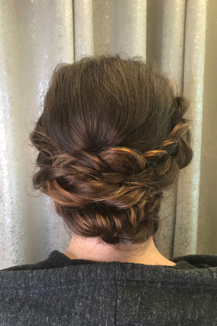 Braided Upstyles, Braids, Braided Updo, Braided Hair Pertaining To Best And Newest Brown Woven Updo Braid Hairstyles (View 7 of 20)