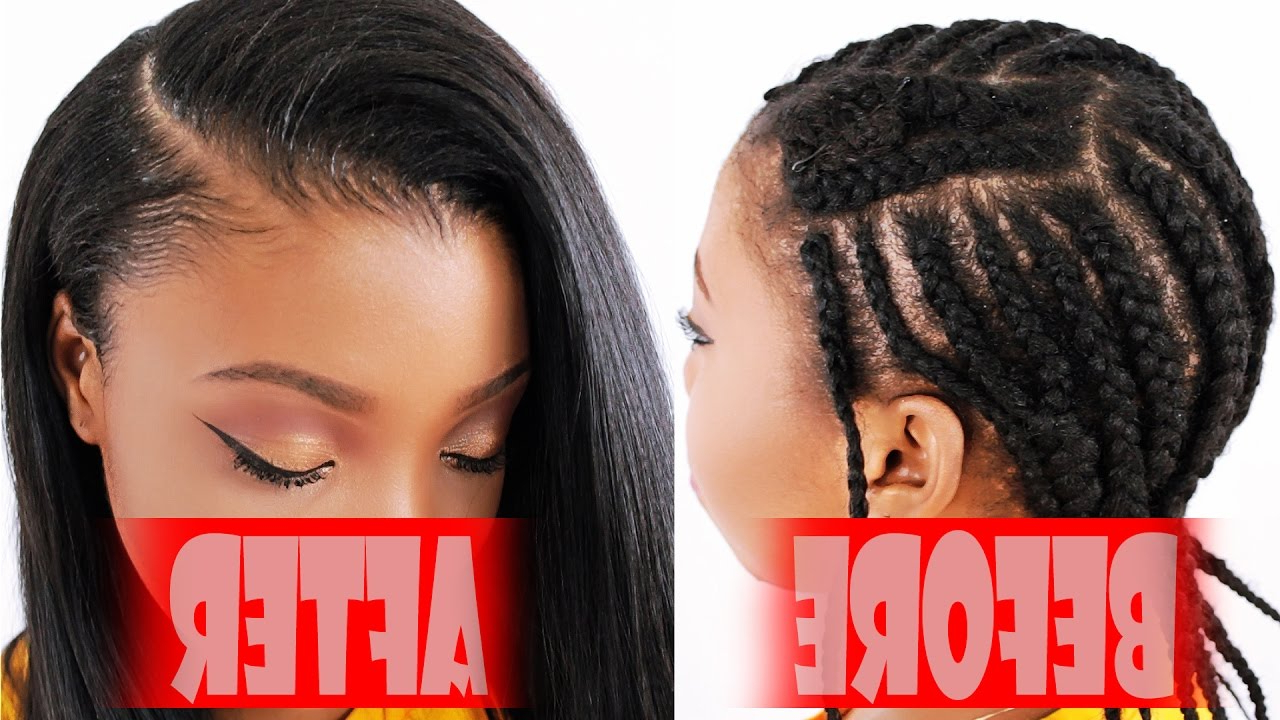 Braiding Pattern For A Side Part Sew In With Most Recent Side Parted Braided Bob Hairstyles (View 8 of 20)