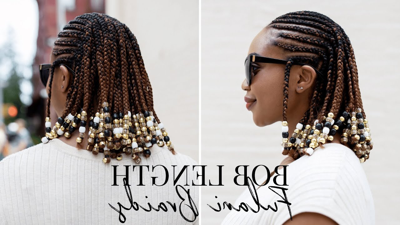 Braids And Beads Hairstyle On Natural Hair With Regard To Fashionable Short Beaded Bob Hairstyles (View 9 of 20)