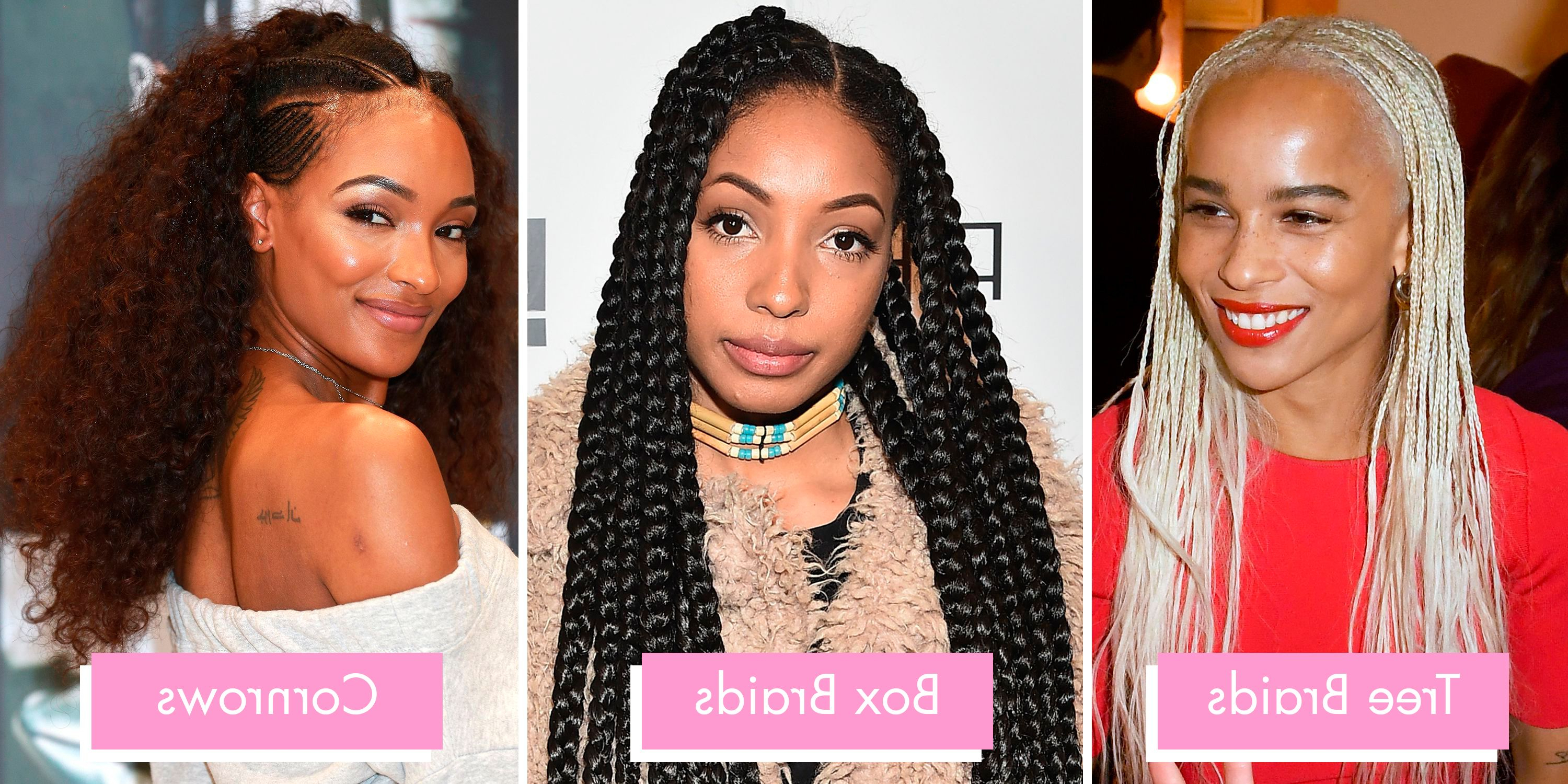 Braids And Twists 2019 – 14 Hairstyles From Crochet And Box Pertaining To Fashionable Red Inward Under Braid Hairstyles (View 9 of 20)