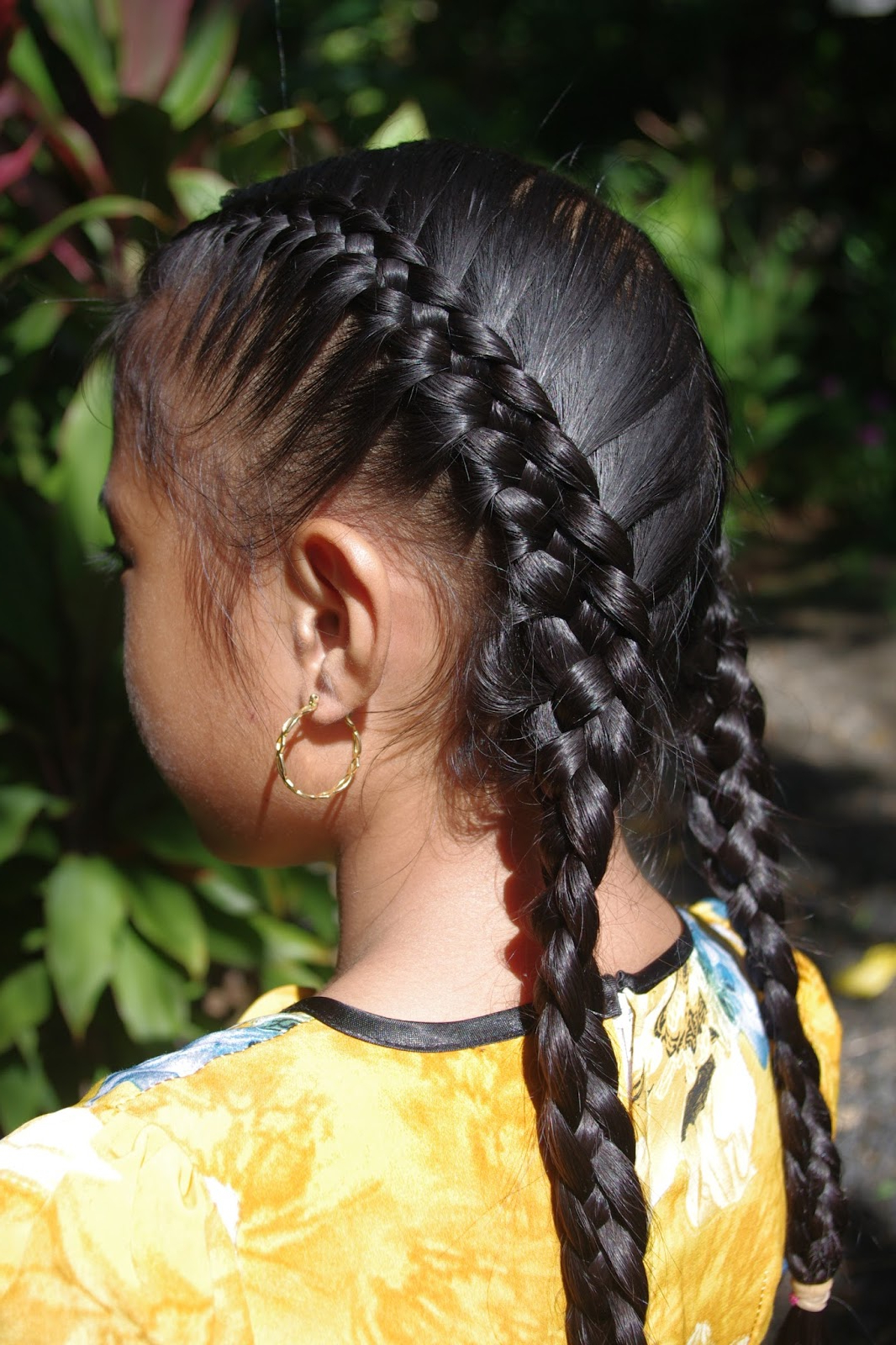 Braids & Hairstyles For Super Long Hair: Micronesian Girl With Most Current Double Rapunzel Side Rope Braid Hairstyles (View 11 of 20)