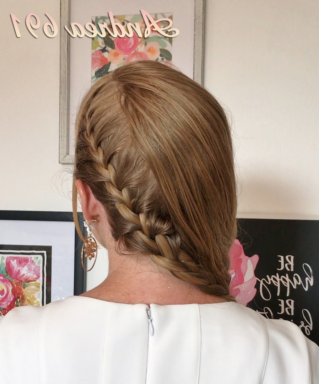 Braids & Hairstyles For Super Long Hair: Peekaboo French Braid In Most Popular Peek A Boo Braided Hairstyles (View 7 of 20)