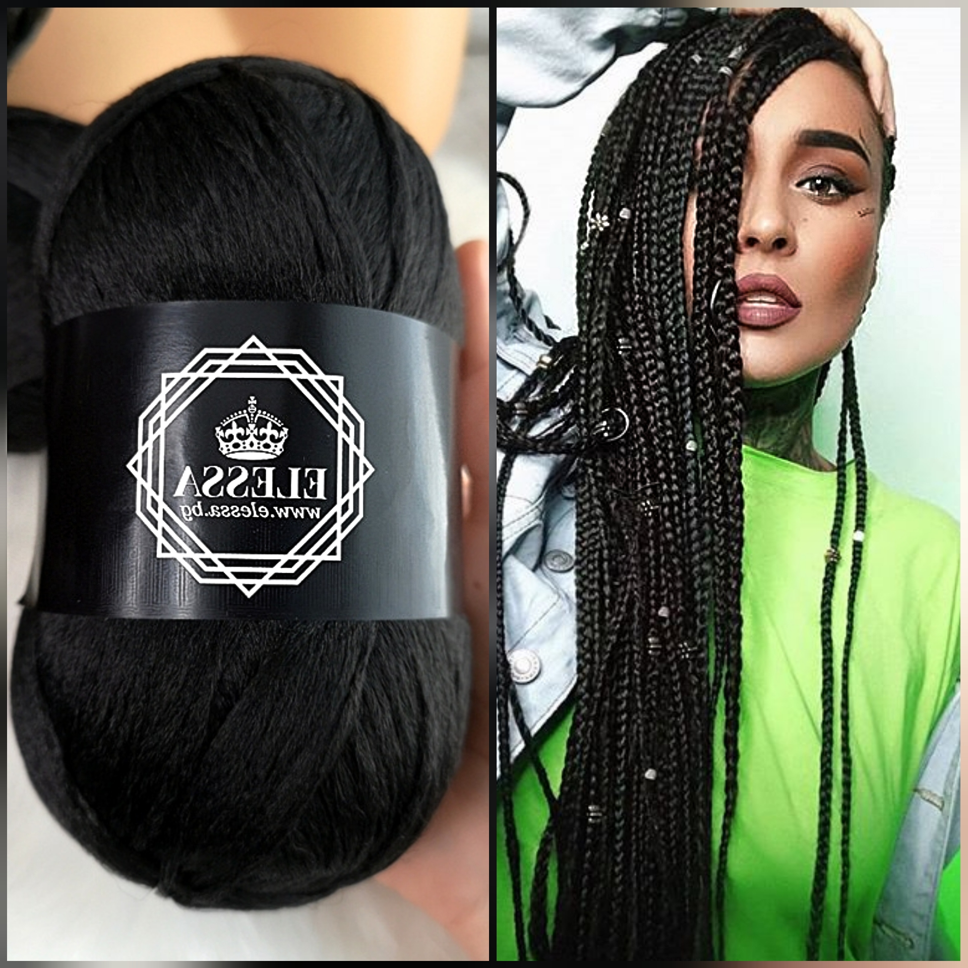 Brazilian Yarn For Braids High Quality Acrylic Wool For Hair For Newest Long Black Yarn Twists Hairstyles (View 20 of 20)