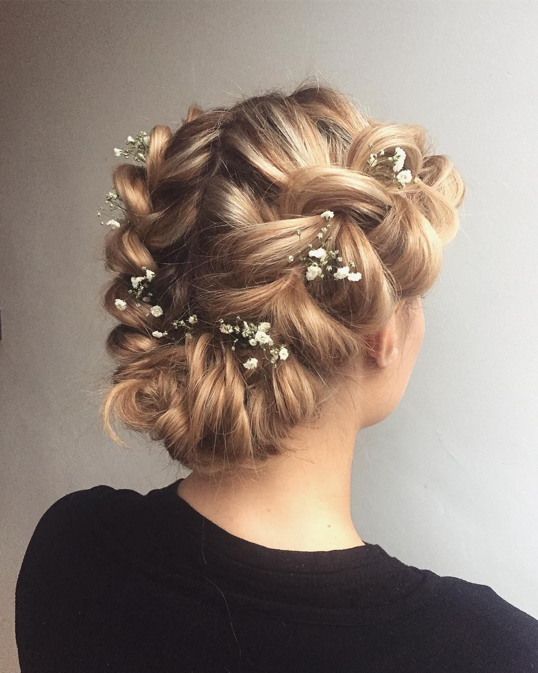 Bridal Crown Braid Hairstyle,textured Updo, Updo Wedding Pertaining To Newest Messy Crown Braided Hairstyles (View 6 of 20)