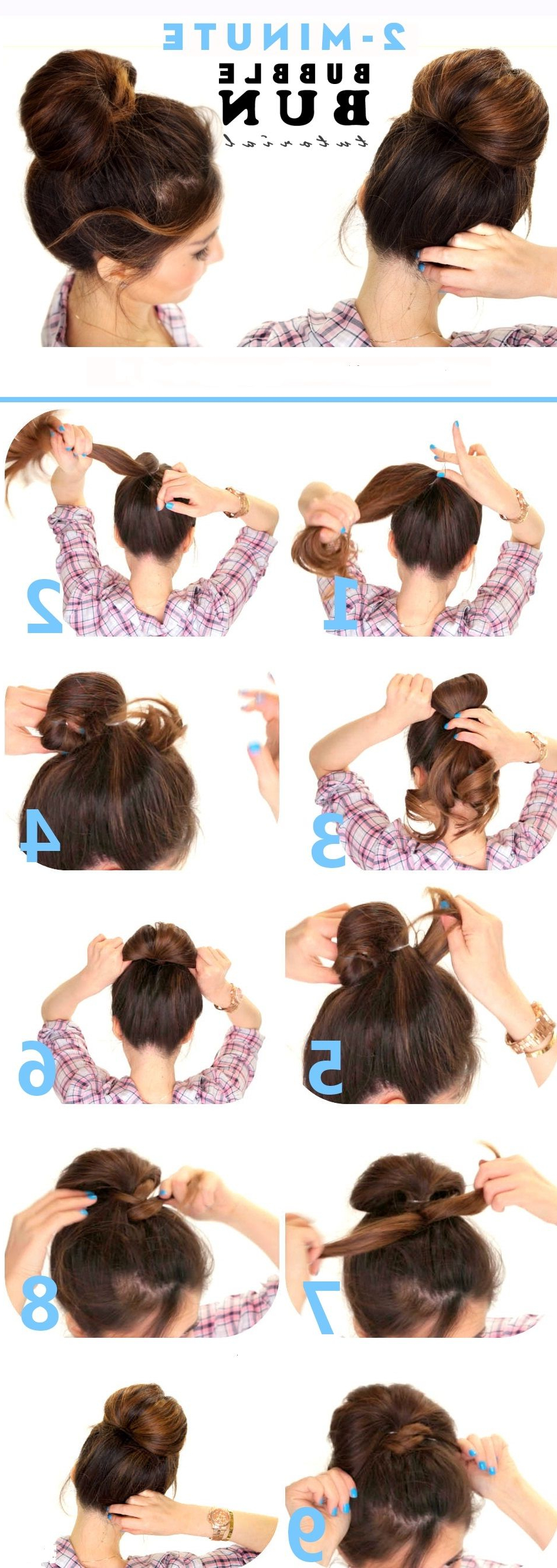 Bubble Bun Hairstyle Stepstep (View 2 of 20)