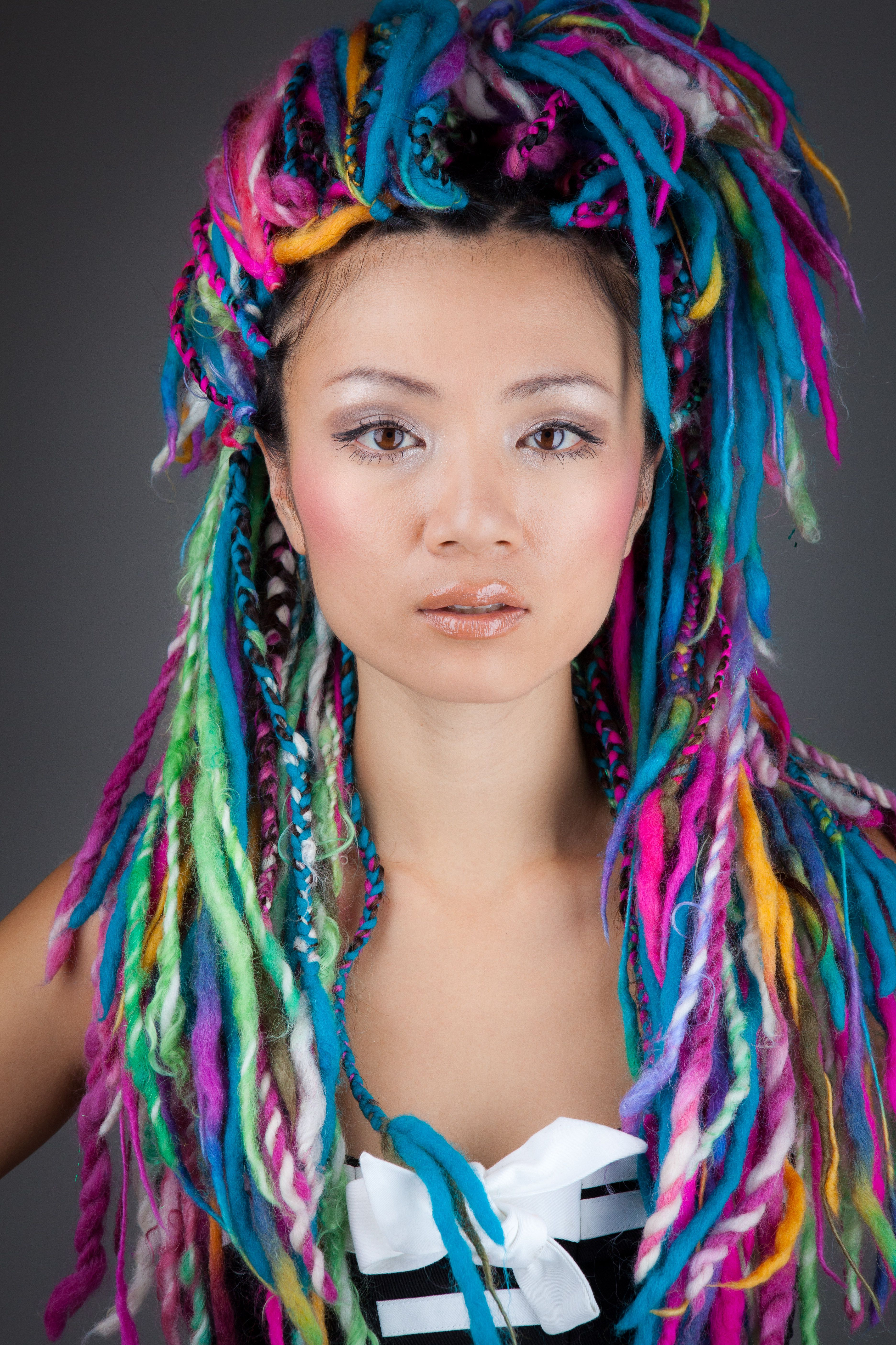 Burning Man & Festival With Newest Blue And White Yarn Hairstyles (View 4 of 20)