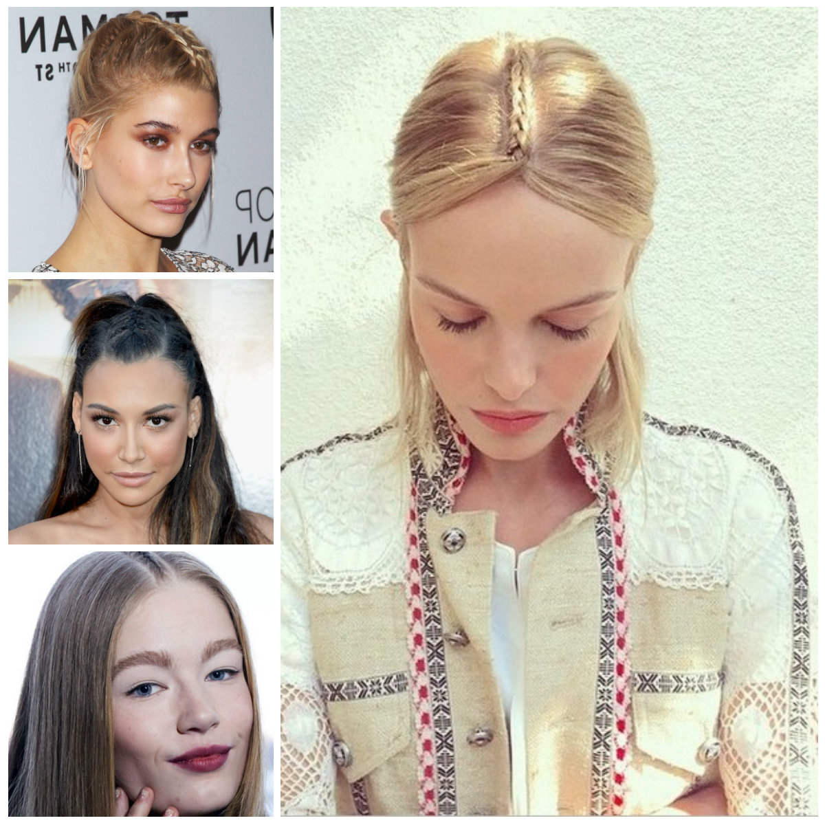 Center Parted Braid Hairstyles For  (View 7 of 20)