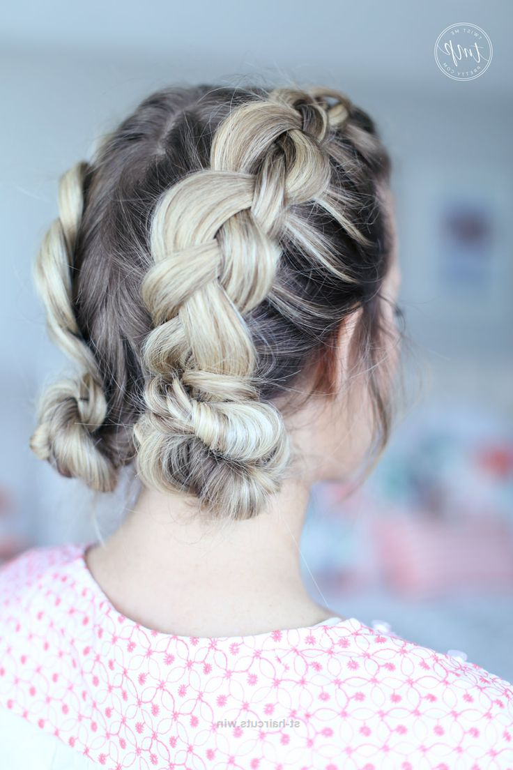 Check It Out Braided Up Do Double Buns Boxer Braids Quick Inside Latest Braids And Buns Hairstyles (View 17 of 20)