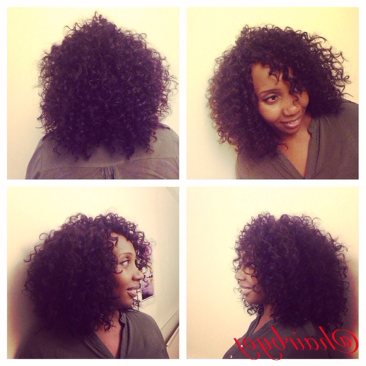 Chin Length Curly Bob Crochet Braids With Layered Bang Regarding Widely Used Layered Bob Braid Hairstyles (View 13 of 20)
