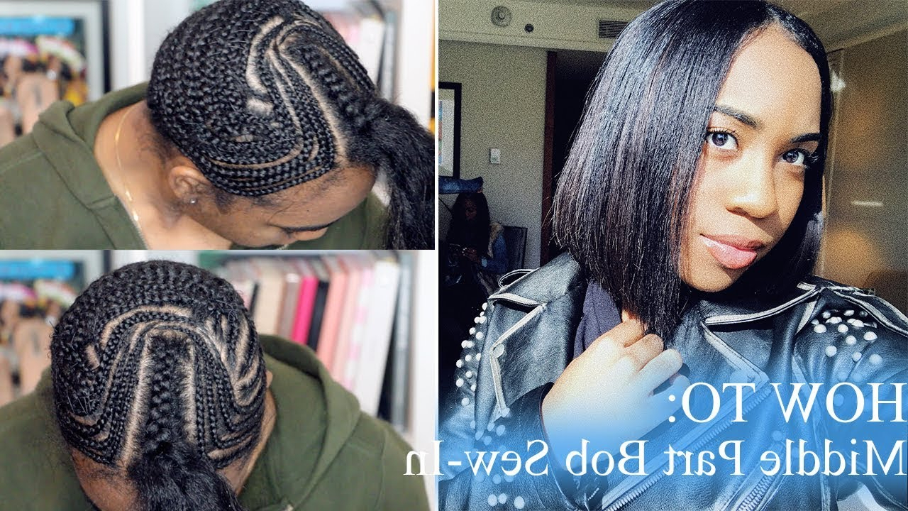 Client Series: Braid Tutorial For A Middle Part Bob (View 3 of 20)