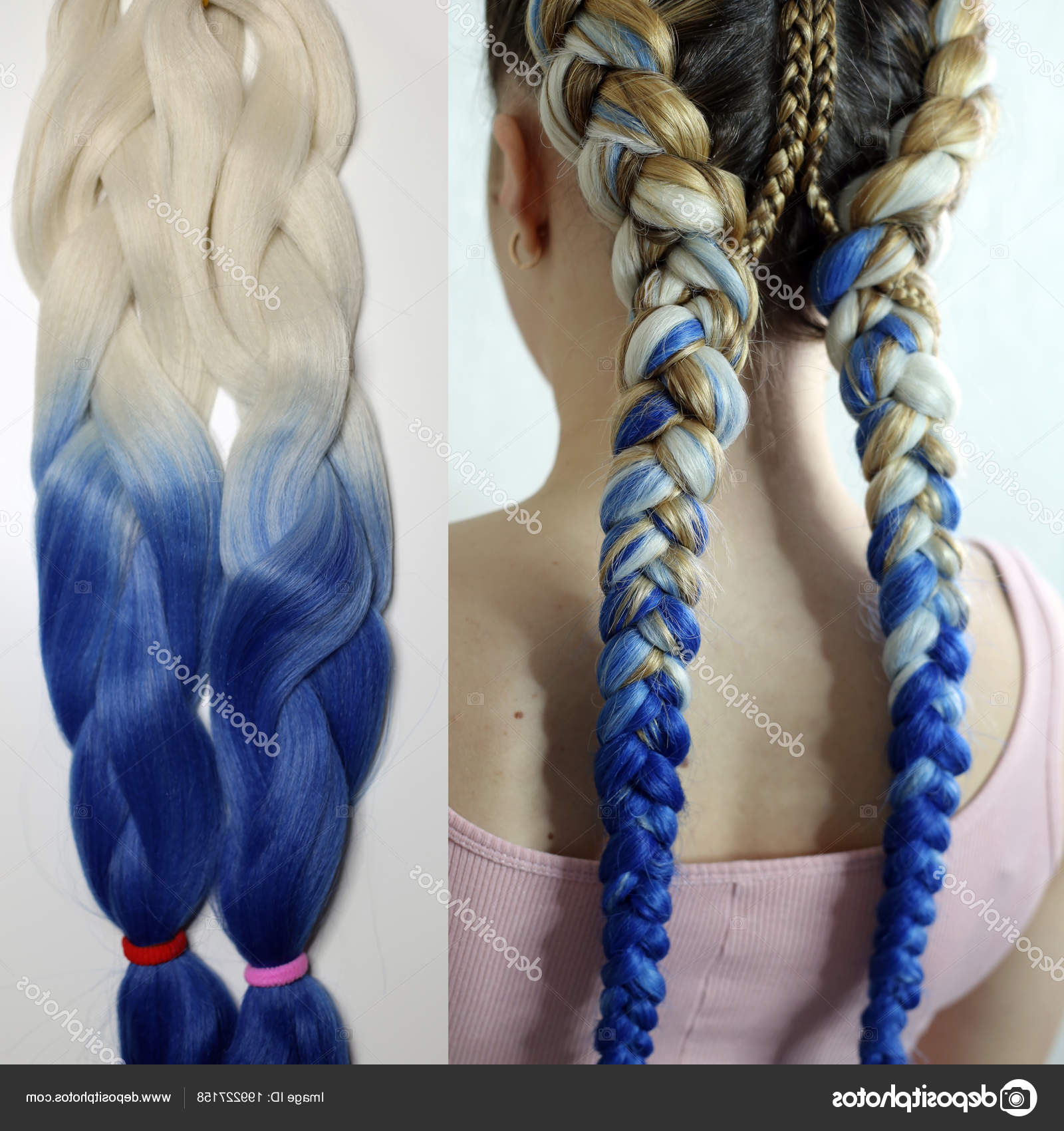 Colored Hair Artificial Material Braiding American African With Regard To 2019 Whirlpool Braid Hairstyles (View 5 of 20)
