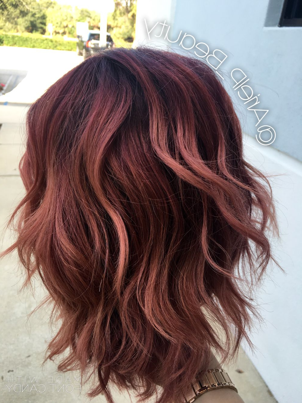 Colormelt/balayage/baliage/ombre/pink/purple/plum/colored Regarding Newest Black Twists Hairstyles With Red And Yellow Peekaboos (View 9 of 20)