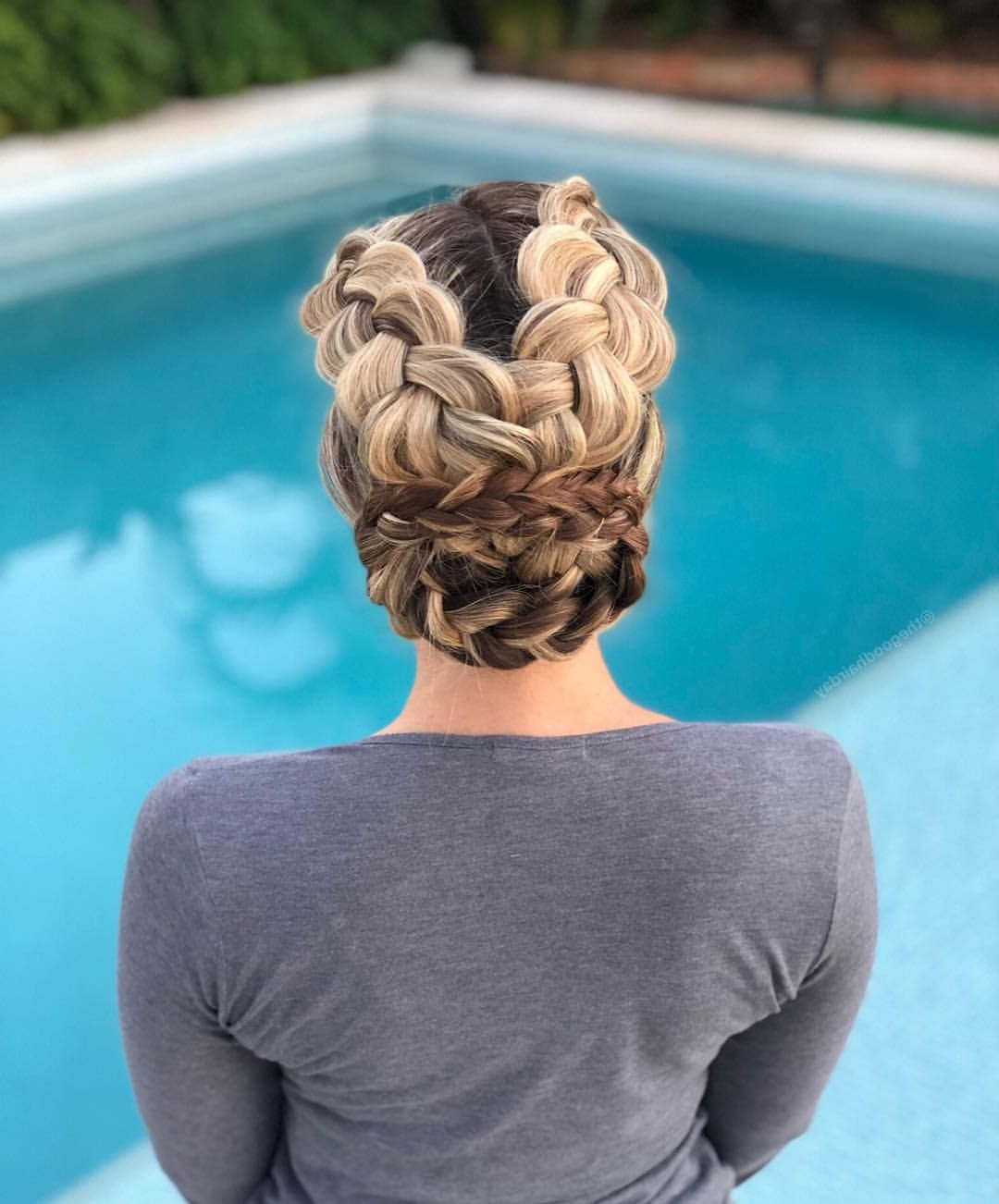 Criss Cross Dutch Braids Into A Braided Bun ✌🏻 (View 7 of 20)