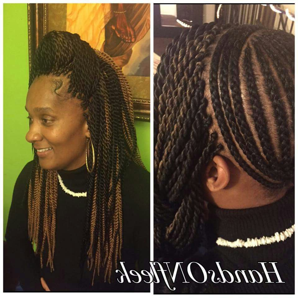Crochet Hair Styles Throughout Best And Newest Half Up Box Bob Braid Hairstyles (View 12 of 20)