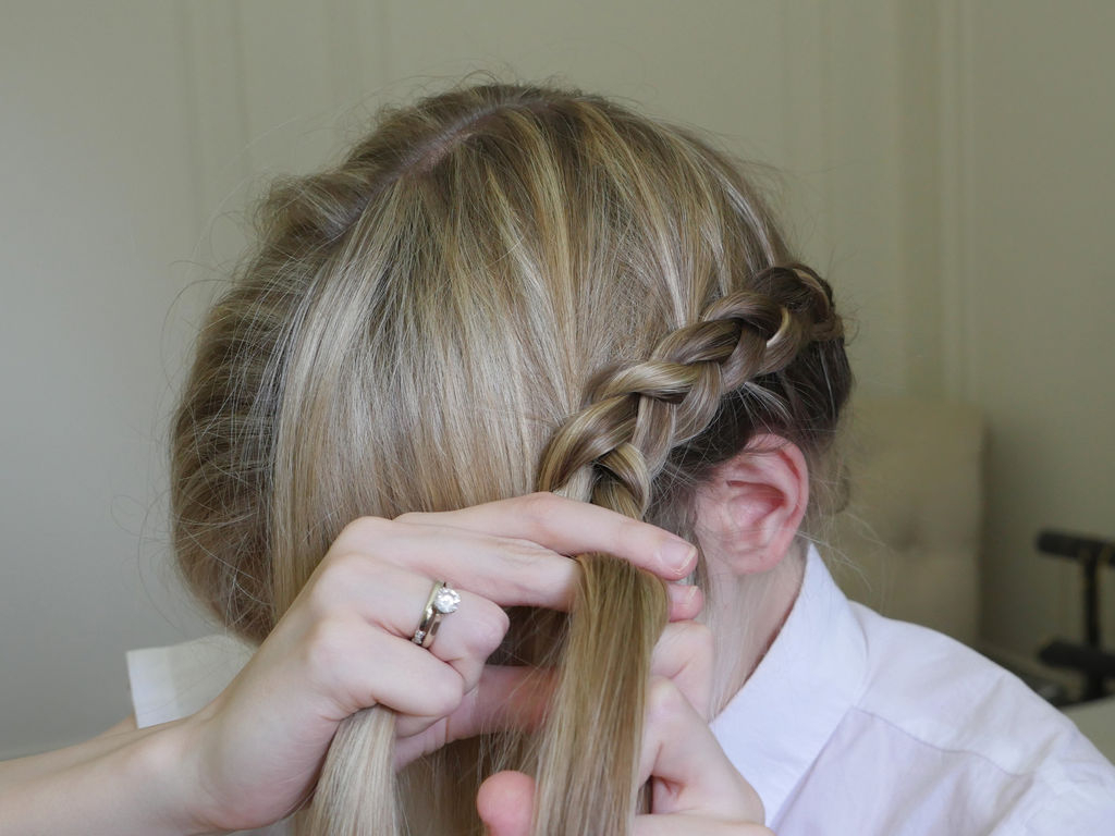 Crown Braid: 8 Steps (with Pictures) Inside Most Popular Forward Braided Hairstyles With Hair Wrap (Gallery 6 of 20)