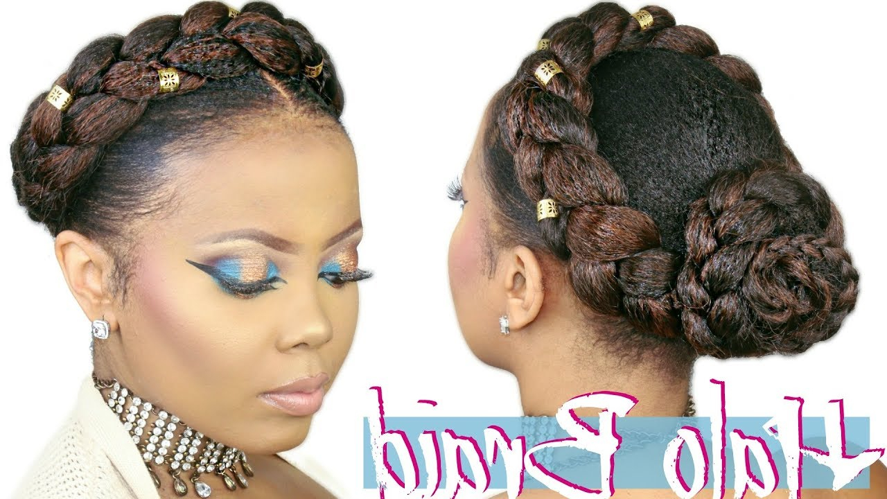 Crown Braid W/ Kanekalon Hair (View 17 of 20)