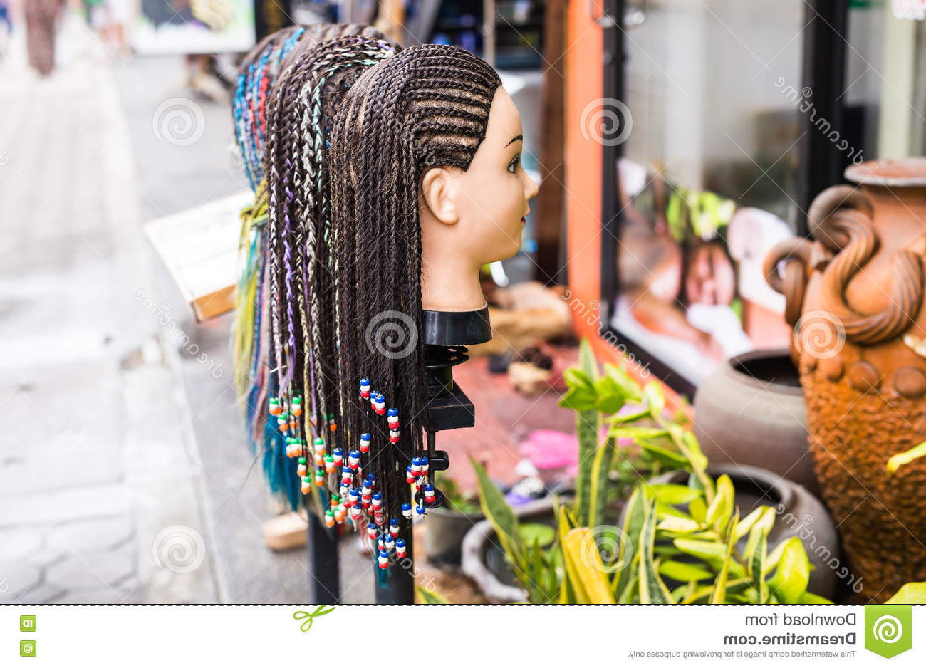 Current Beaded Pigtails Braided Hairstyles With Female Mannequin Head With Braided Pigtails Hairstyle (View 17 of 20)