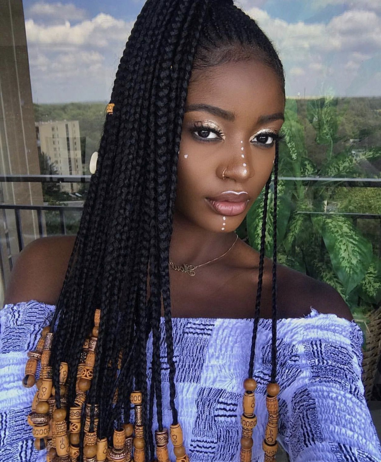 Current Box Braids And Beads Hairstyles Inside Pin On All About Hair! (View 2 of 20)