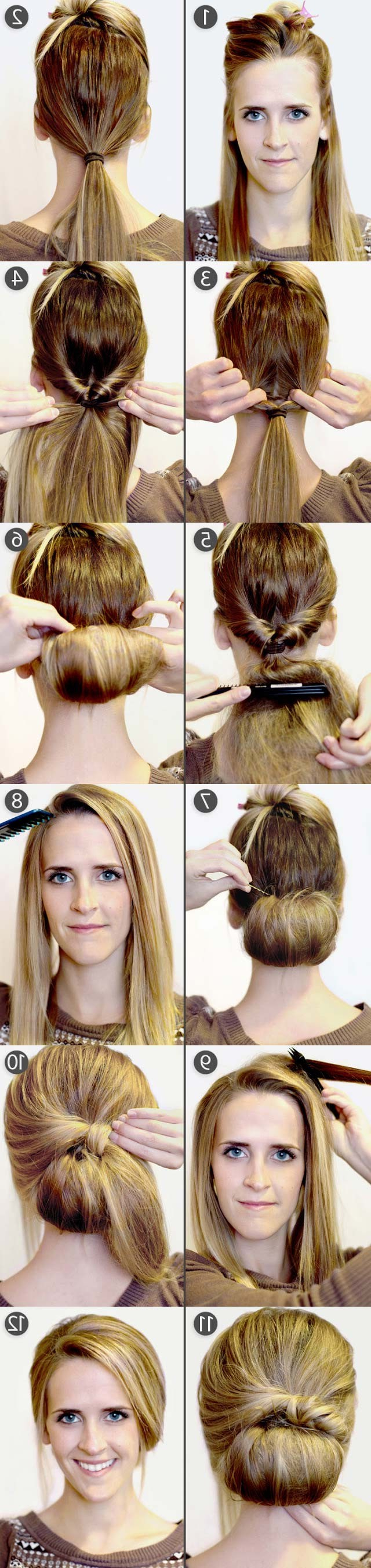 Current Braids And Bouffant Hairstyles In 15 Cute Hairstyles: Step By Step Hairstyles For Long Hair (View 19 of 20)