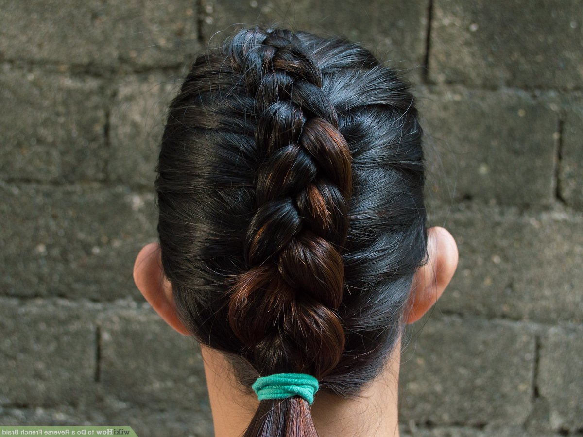 Current Chunky French Braid Chignon Hairstyles Regarding How To Do A Reverse French Braid: 6 Steps (with Pictures) (View 14 of 20)