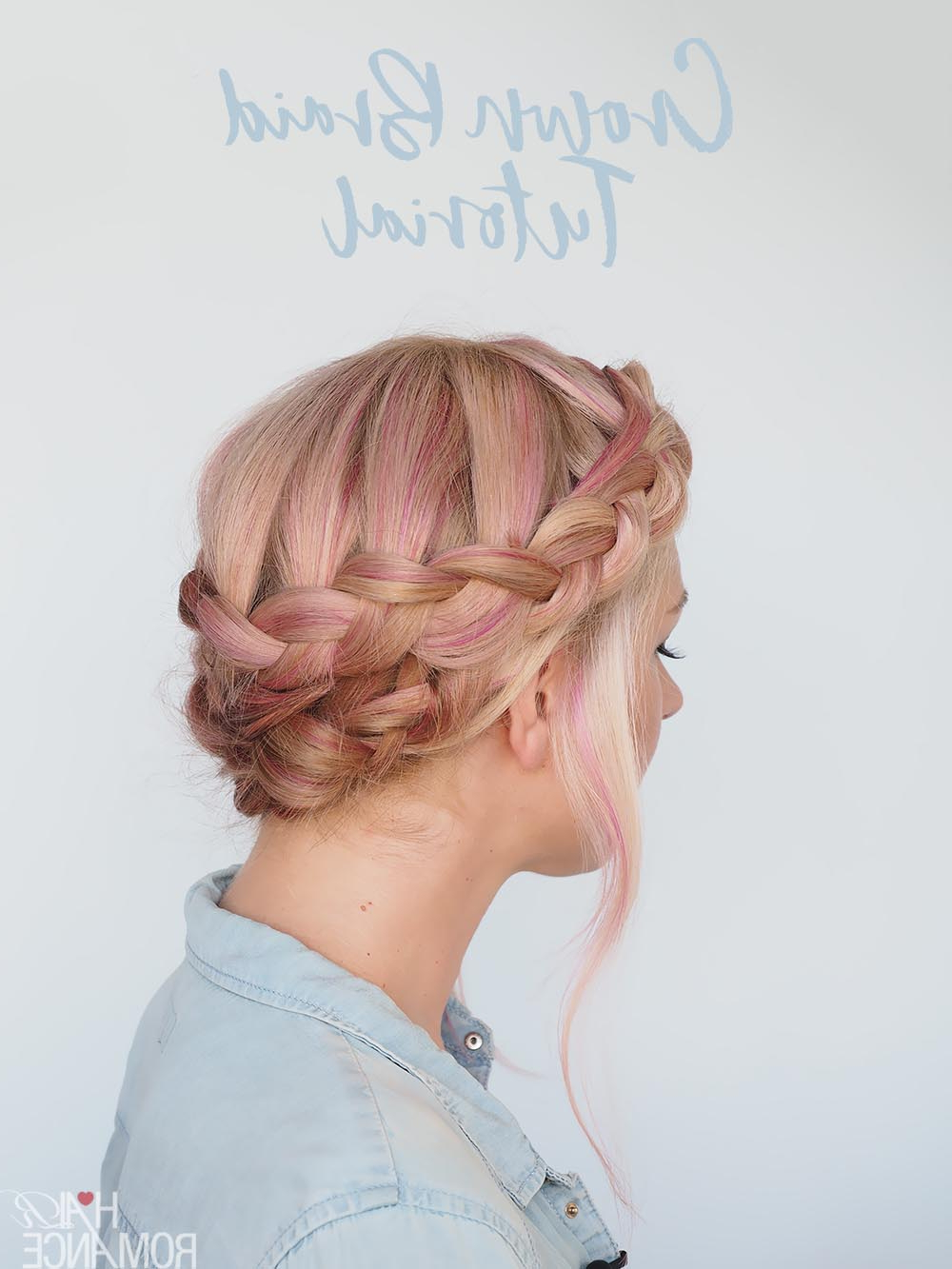 Current Double Crown Updo Braided Hairstyles In A New Way To Wear A Crown Braid (2 Hairstyle Tutorials In (View 14 of 20)